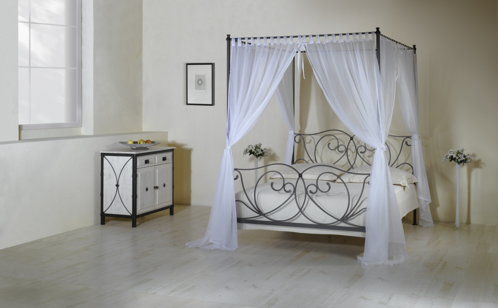 betthimmel schmiedem bel metallm bel iron art. Black Bedroom Furniture Sets. Home Design Ideas