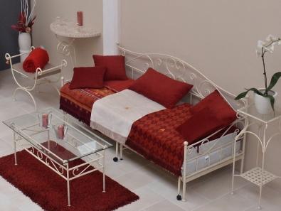 Tagesbett Malaga ausziehbar Metall handgeschmiedet