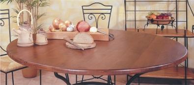 Tischplatte Eiche massiv rund