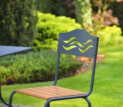 Gartenstuhl Livorno aus Eisen stapelbar standfest