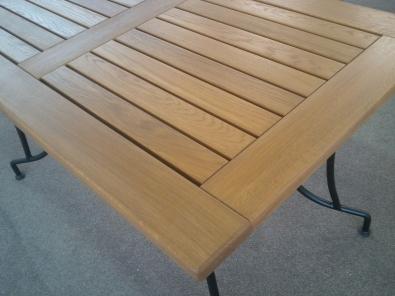 Tischplatte Eiche für Außenbereich