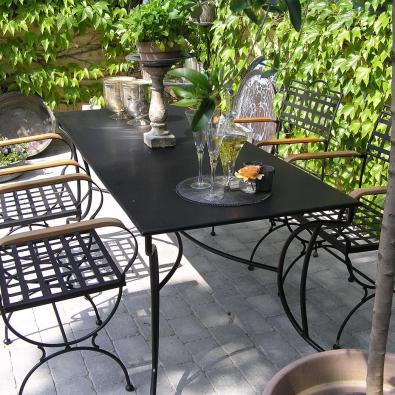 Gartenmöbel Versailles mit Blechplatte