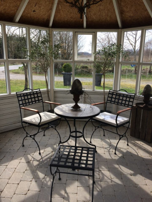 Gartenstuhl mit Armlehne Versailles