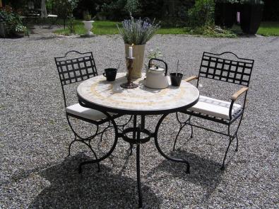 Gartenstuhl Versailles aus Schmiedeeisen