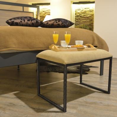 modernes Bett aus Metal und Holz Almeria