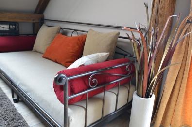 Tagesbett Romantic ausziehbar Metall handgeschmiedet