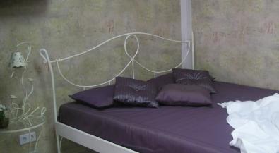 Bett aus Schmiedeeisen Modena weiss