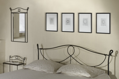 Bett aus Schmiedeeisen Modena