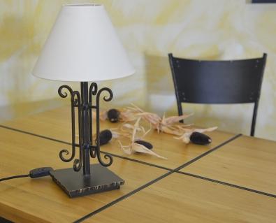 Tischleuchte  Saumur aus Eisen geschmiedet
