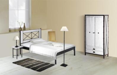 Bett aus Schmiedeeisen Chamonix