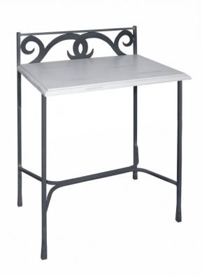 Nachttisch Granada aus Metall und Massivholz
