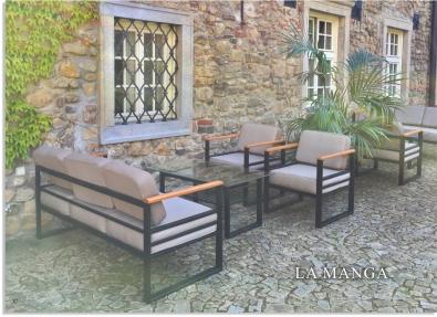 Sofa aus Metall für Garten