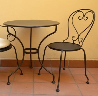 Gartentisch Montpelier mit Blechplatte Durchm. 65 cm