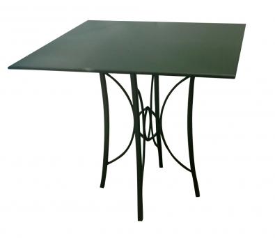 Gartentisch mit Blechplatte