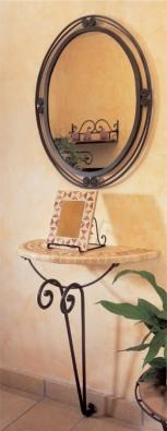Spiegel Jamaica oval, handgeschmiedet