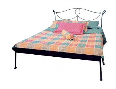 Bett aus Schmiedeeisen Modena schwarz