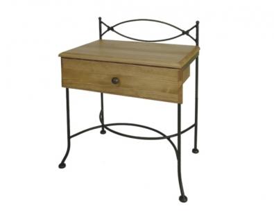 Nachttisch Tholen mit Holzplatte