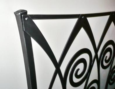 Metallbett Ronda - schwarz mit Silberpatina