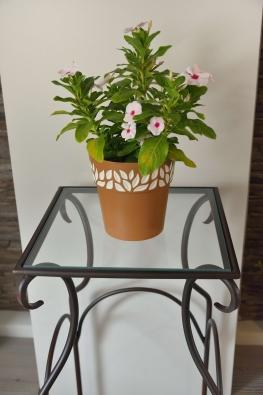 Blumentisch Jamaica Metall und Glas