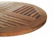 Tischplatte Eiche für Außen - rund