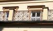 Reha-Sanatorium Brandys, Geländer aus Eisen